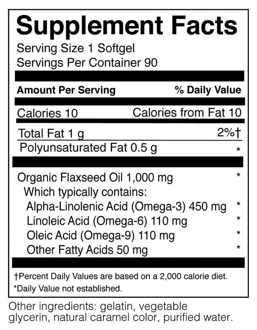 Flaxseed Oil 90 Softgels Doctor S Nutrition